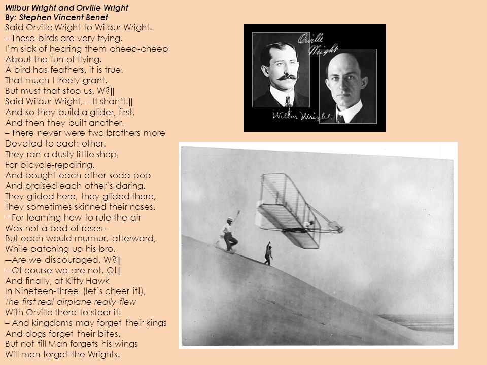 orville wright fly