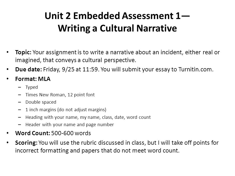 unit embedded assessment writing a cultural narrative ppt  unit 2 embedded assessment 1 writing a cultural narrative