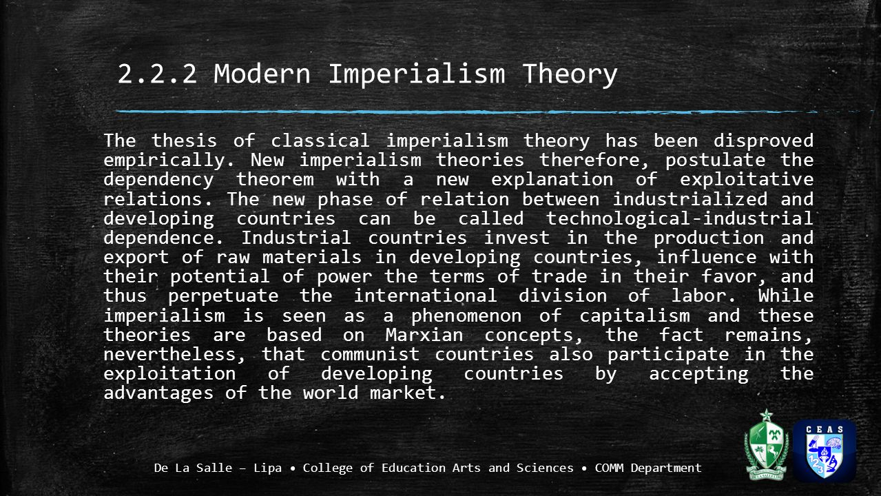 the advantages of adapting the concept of imperialism The industrial revolution and imperialism - the concept of imperialism is one that has pervaded nearly every major society or empire throughout human history it .