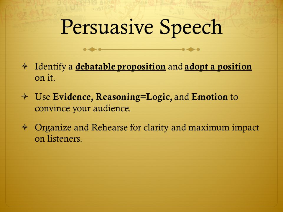 Persuasive speech on single parents