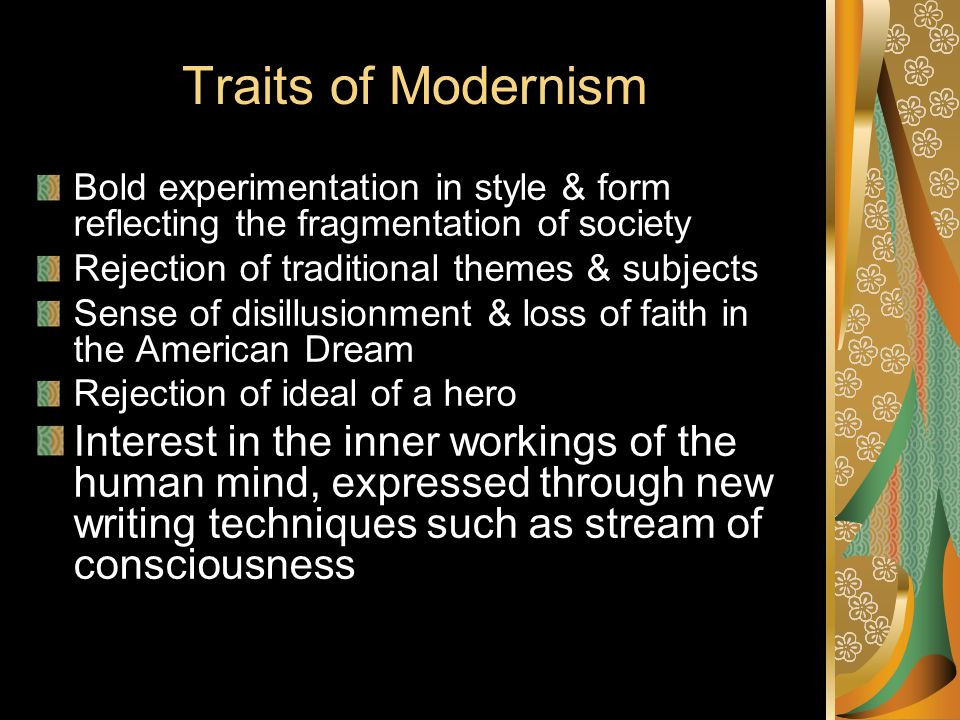 traits of the modern world So much about the world we live and work in has 7 traits of the modern leader and i plan to challenge this group to embrace the traits of today's.