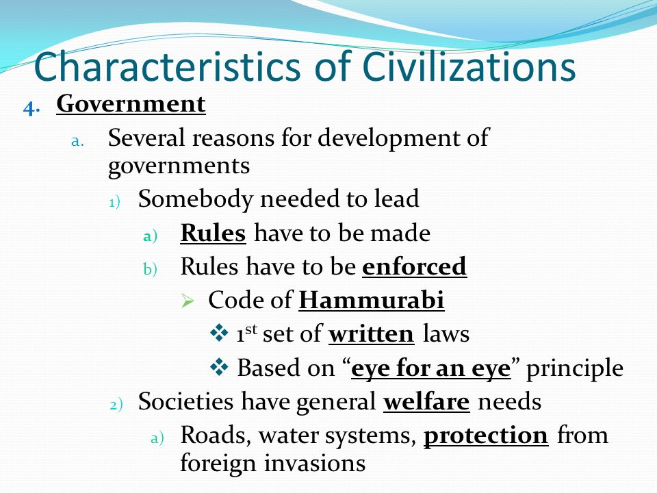 the features of law systems in ancient civilizations The fact that the rule of law is a controversial idea does not stop various organizations from trying to measure its application in different societies groups like the world justice project concoct criteria and indexes of the rule of law, ranking the nations of the earth in this regard countries like norway and.
