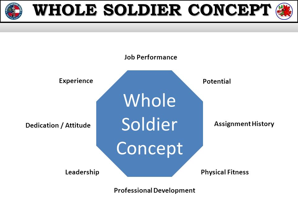 total soldier concept Total soldier concept the total soldier concept is what every soldier should stride to be, it is the the idea of acting as a professional soldier in every way at all.