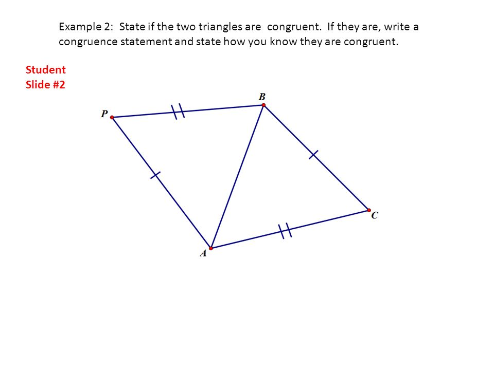 How do you write a congruence statement for triangles