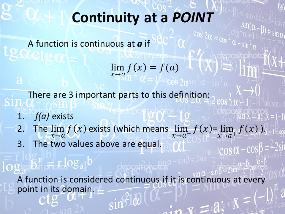 how to make a function continuous at a point