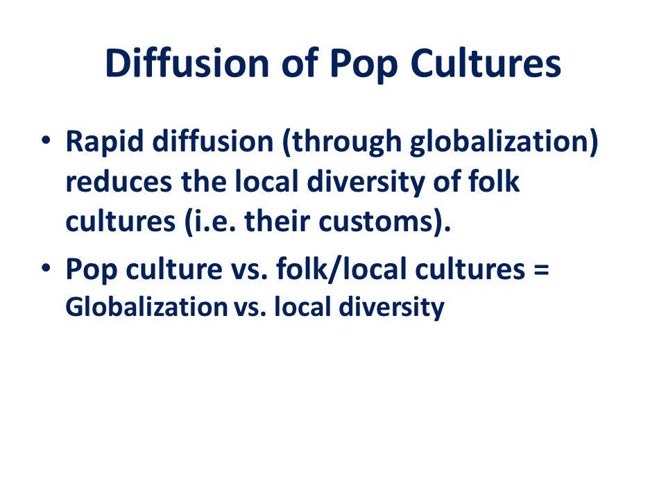 Diffusion of Pop Cultures