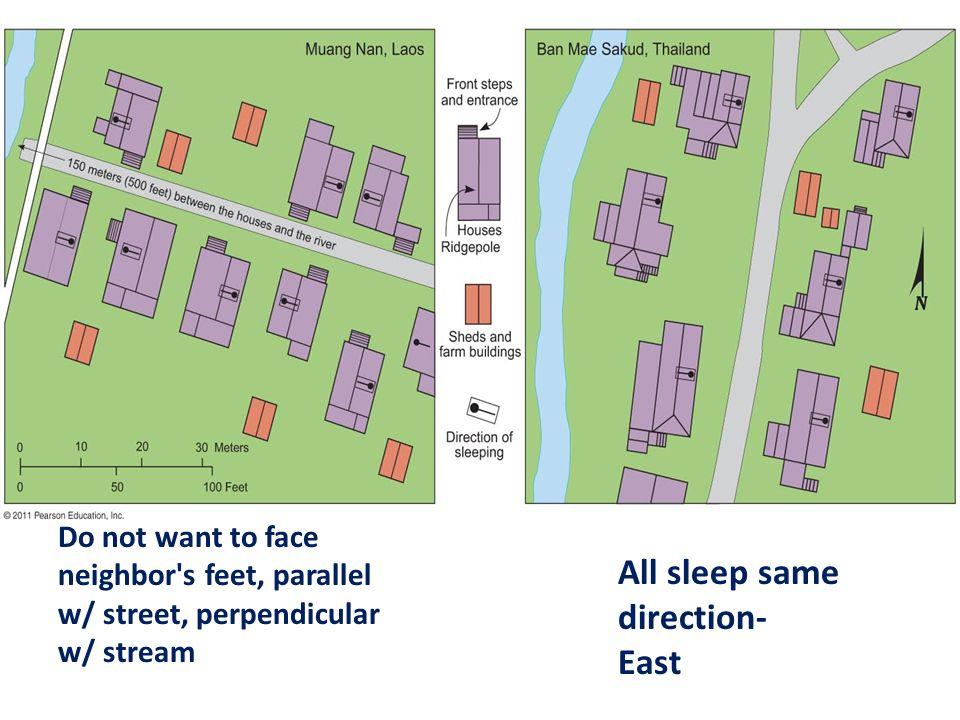 All sleep same direction- East