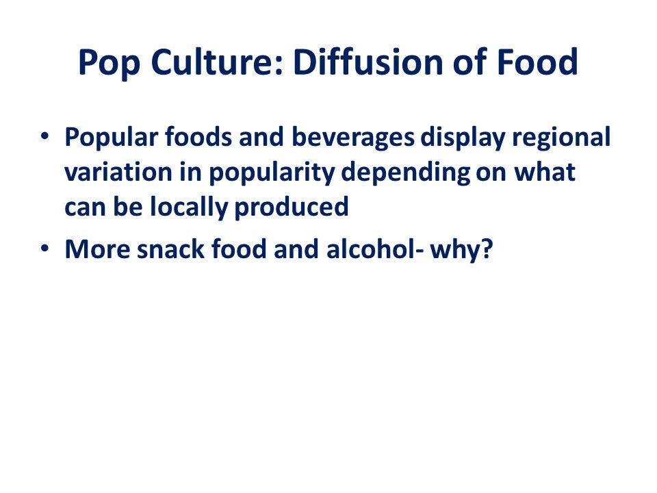 Pop Culture: Diffusion of Food
