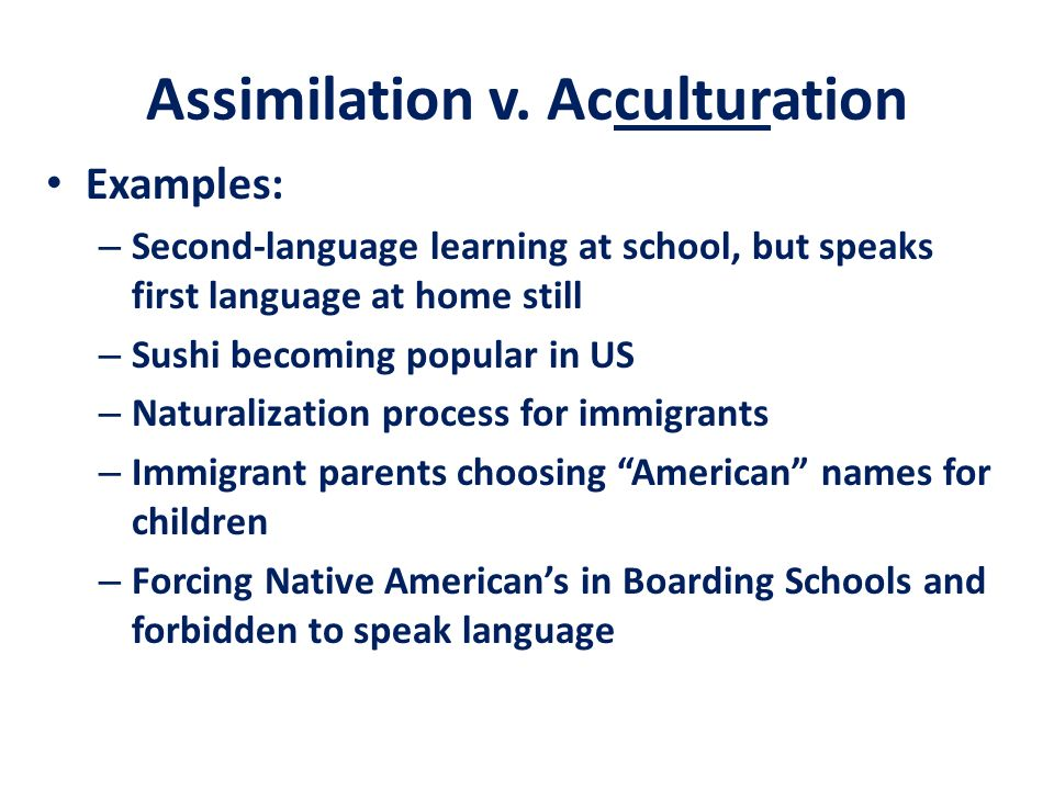 an introduction to the process of assimilation in schools Director of education, education secretariat, assembly of first nations: rose- alma  tained in the definition of high quality first nations.