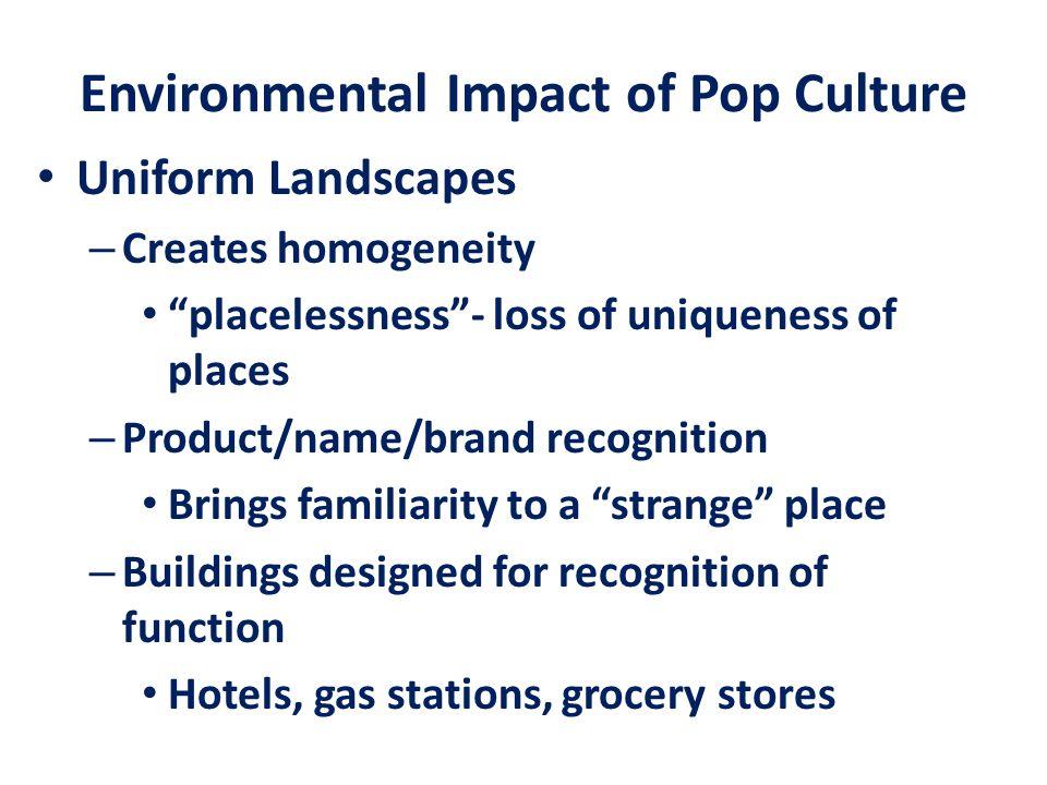 Environmental Impact of Pop Culture