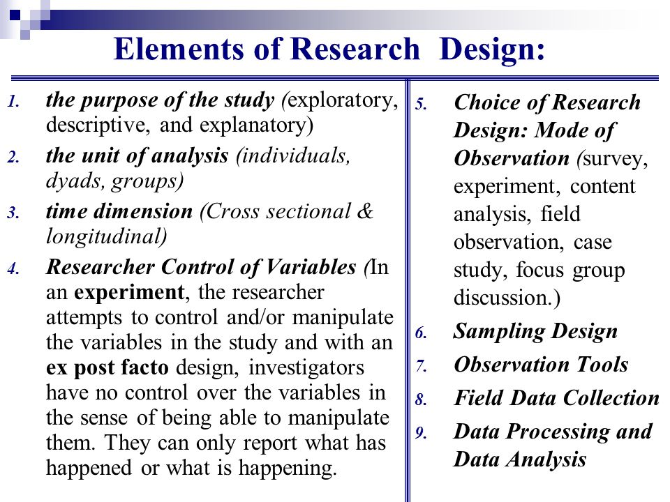 Business Research Process Step 6 Research Design Ppt