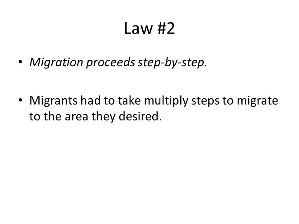 laws of migration by e g Ernst georg ravenstein (ernest george) ernest george ravenstein: the laws of migration, 1885 by john corbett, center for spatially integrated social science.