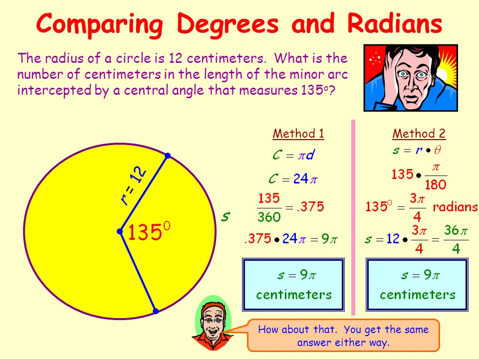 how to get angle from radians to degrees