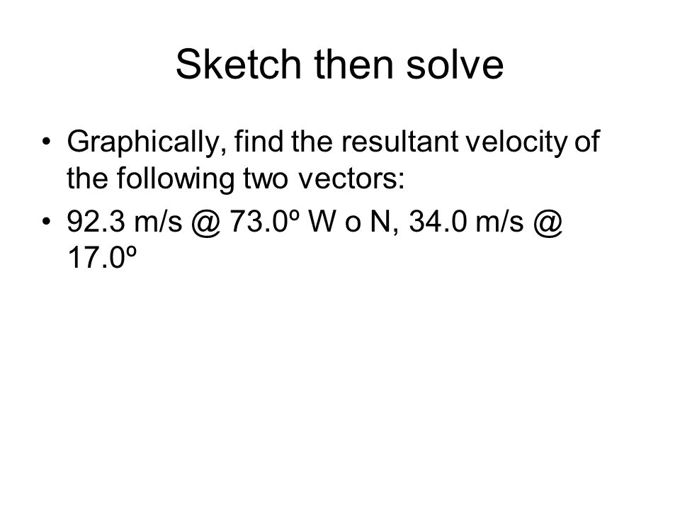 how to find resultant velocity of two vectors