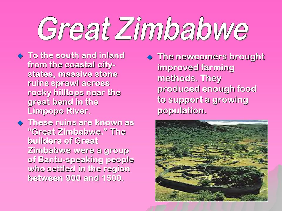 an introduction to the history of the trade between gotland and great zimbabwe The history of the continent from an african perspective  african history from the  origins of humankind to the end of south african apartheid  the greatest long  distance navigators in europe trade from east to west  great zimbabwe.