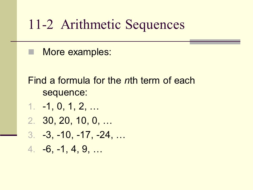 Chapter 11 Sequences and Series ppt download – Arithmetic Sequence Worksheet Algebra 1