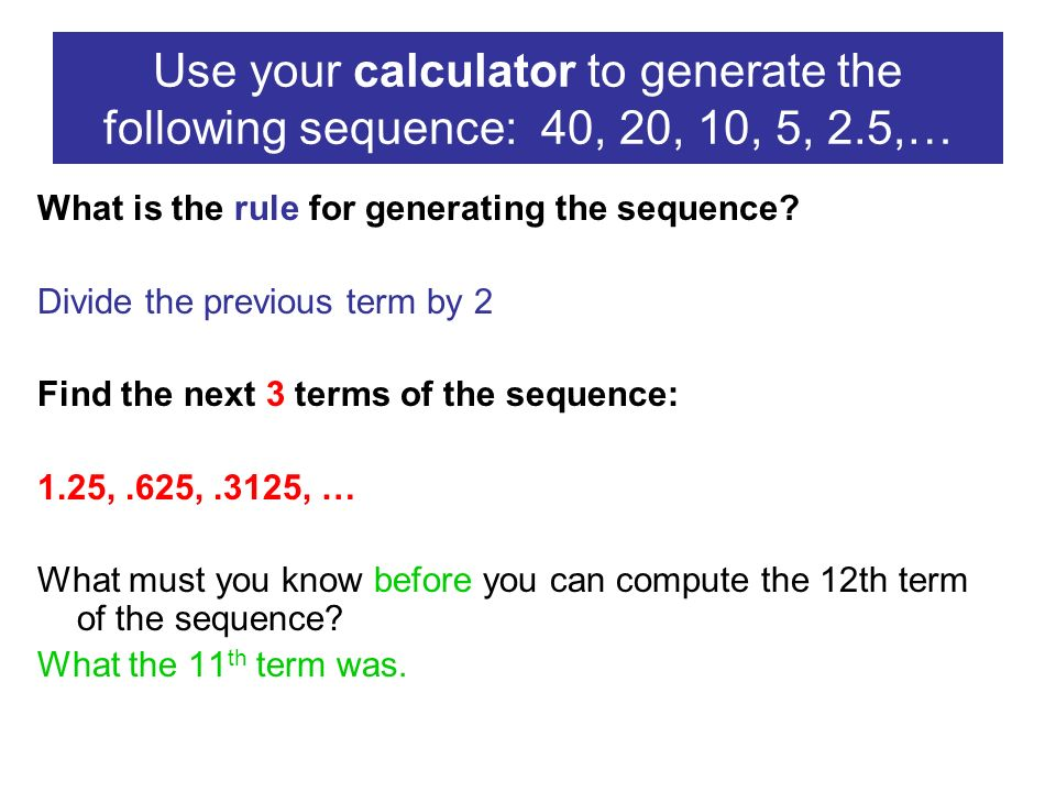 Arithmetic sequences calculator