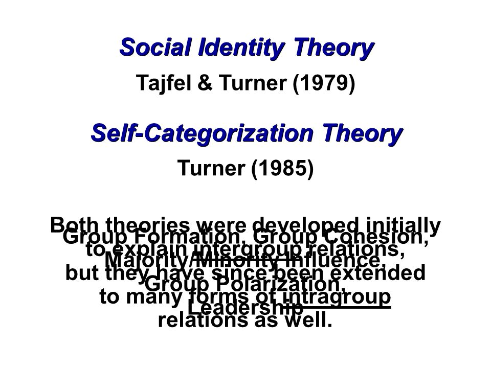 comparing tajfels social identity theory and scapegoating theory in explaining prejudice essay Social identity theory conformity could also be used as an explanation of prejudice if you get stuck writing a psychology essay way towards explaining prejudice.