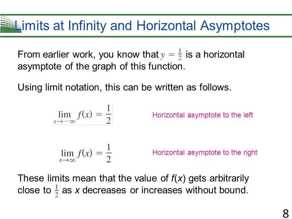 Find the equation for each horizontal asymptote ppt download limits at infinity and horizontal asymptotes ccuart Choice Image