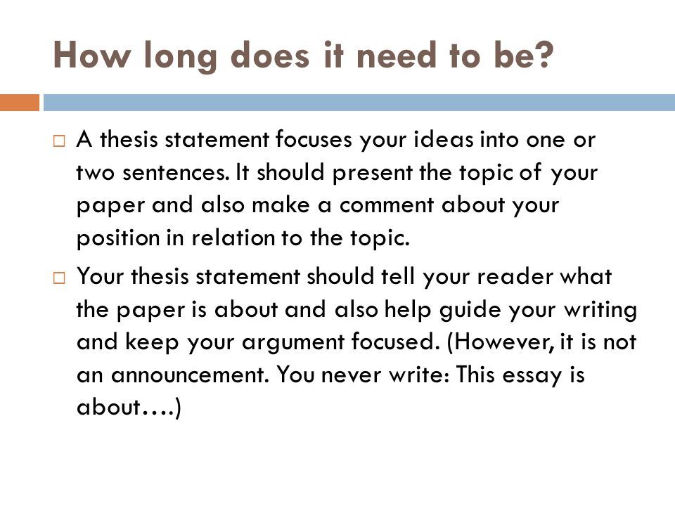 how does the thesis statement aid the writer  tips on