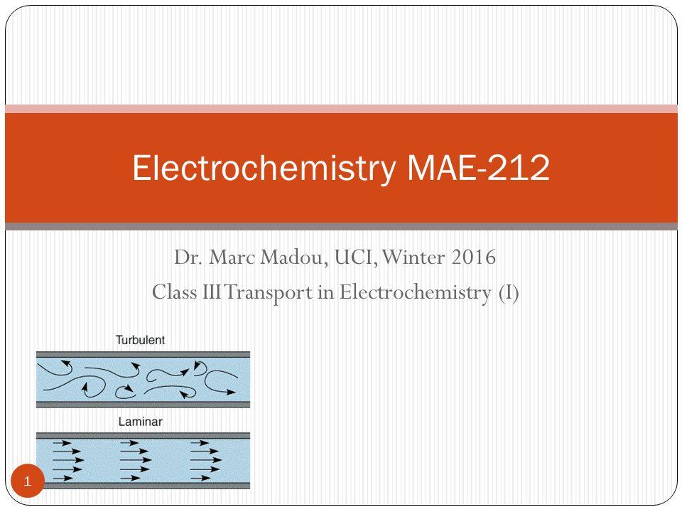 Electrochemistry MAE-212