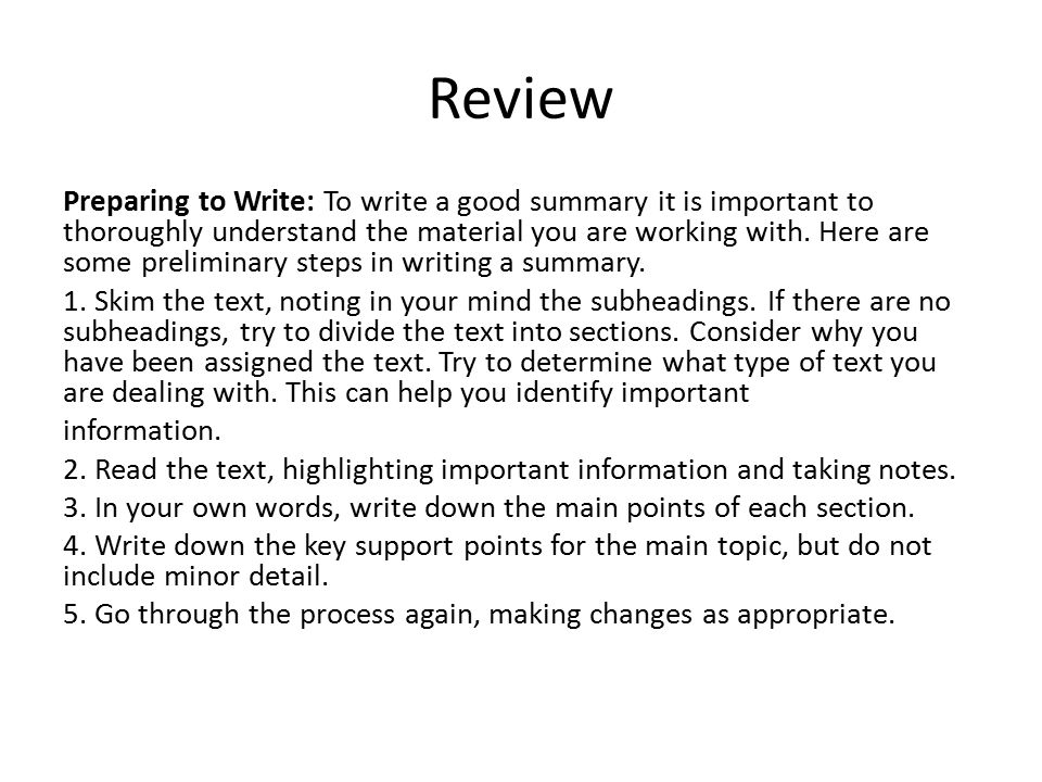 Academic Summary Writing - ppt download
