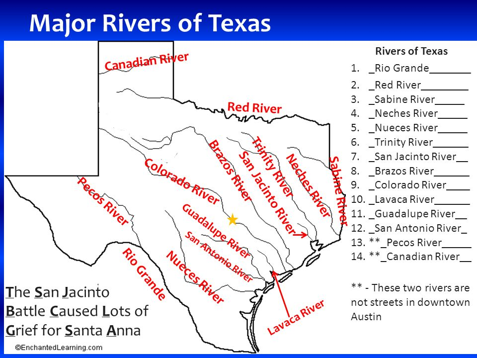 Rivers And Cities Of Texas Ppt Download - Map of texas cities and rivers