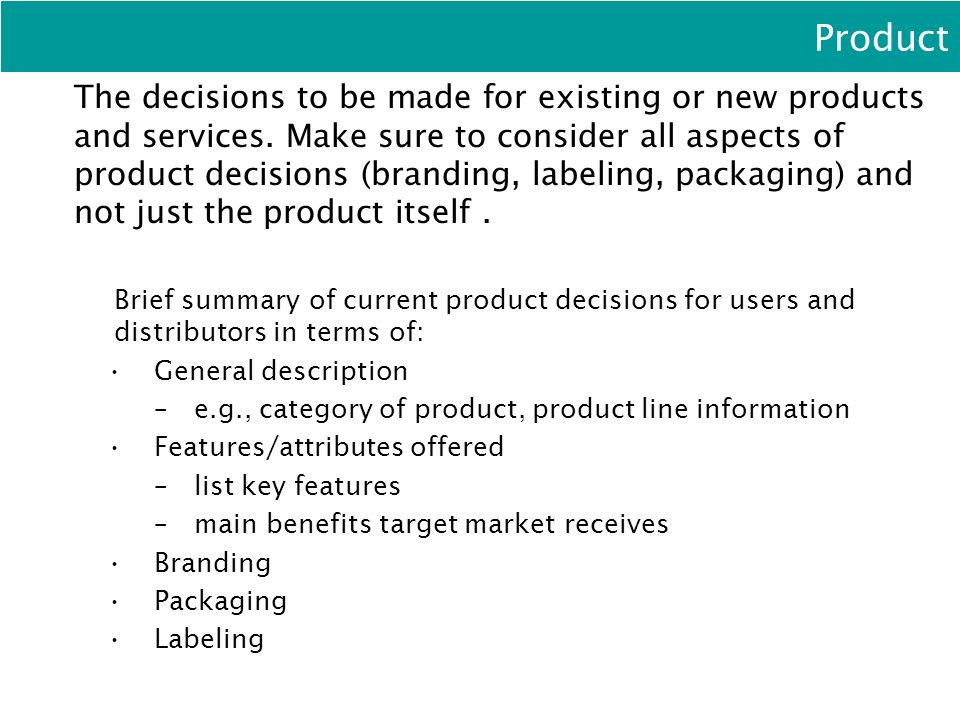 What Are the Key Marketing Decisions?