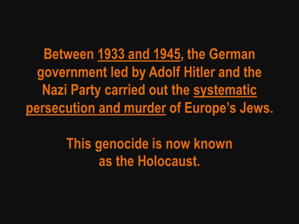 the background of the holocaust between 1933 and 1945 The holocaust: 1933-1945  years of triumph shows germany between 1933 and 1939  comprehensive study of the background, psychology and practices of the ss.