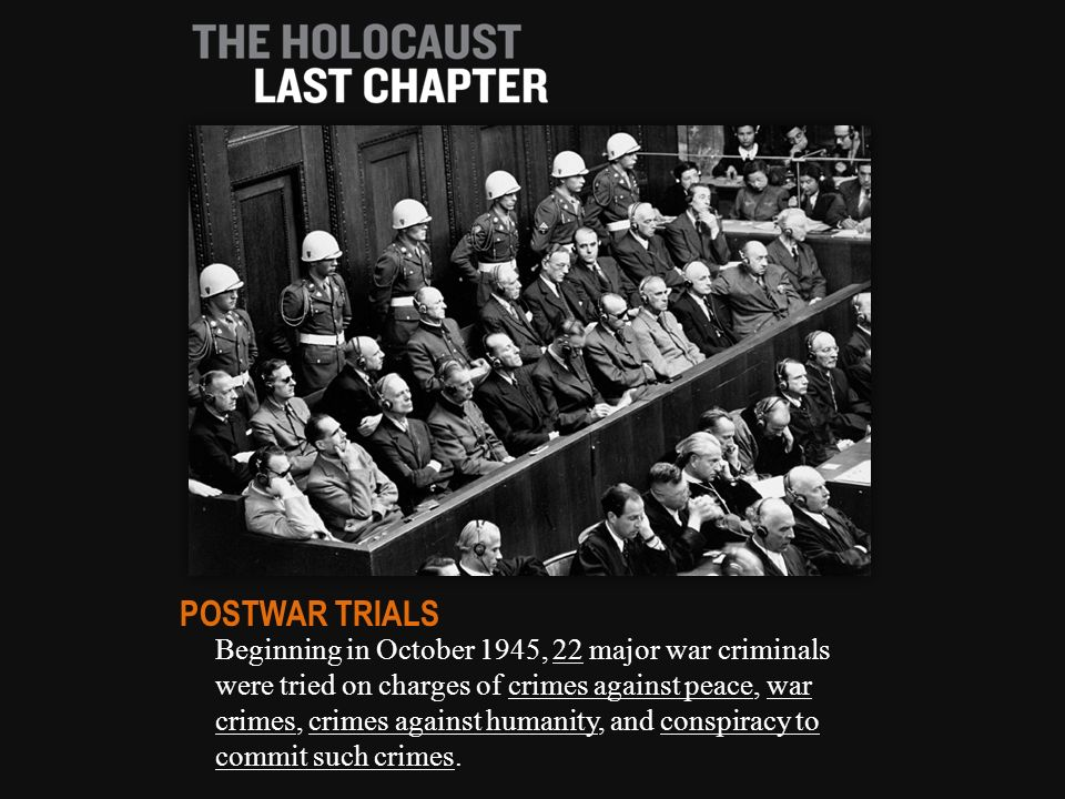 """war crimes crimes against humanity and crimes against peace in the nuremberg trials The nuremberg trials and crimes against humanity """"crimes against peace, war crimes the anatomy of the nuremberg trials, 107."""
