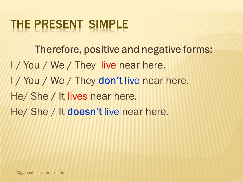 Therefore, positive and negative forms: