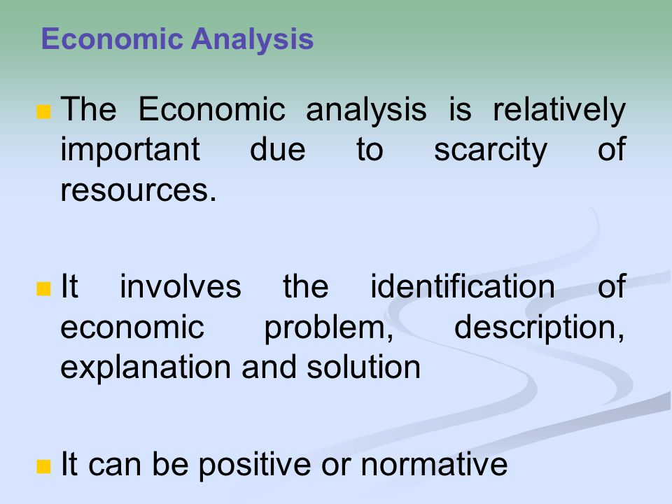 the importance of economic analysis Explore the possible linkages between economic analysis and gis  importance  because while making economic policy decisions, welfare consideration of a.