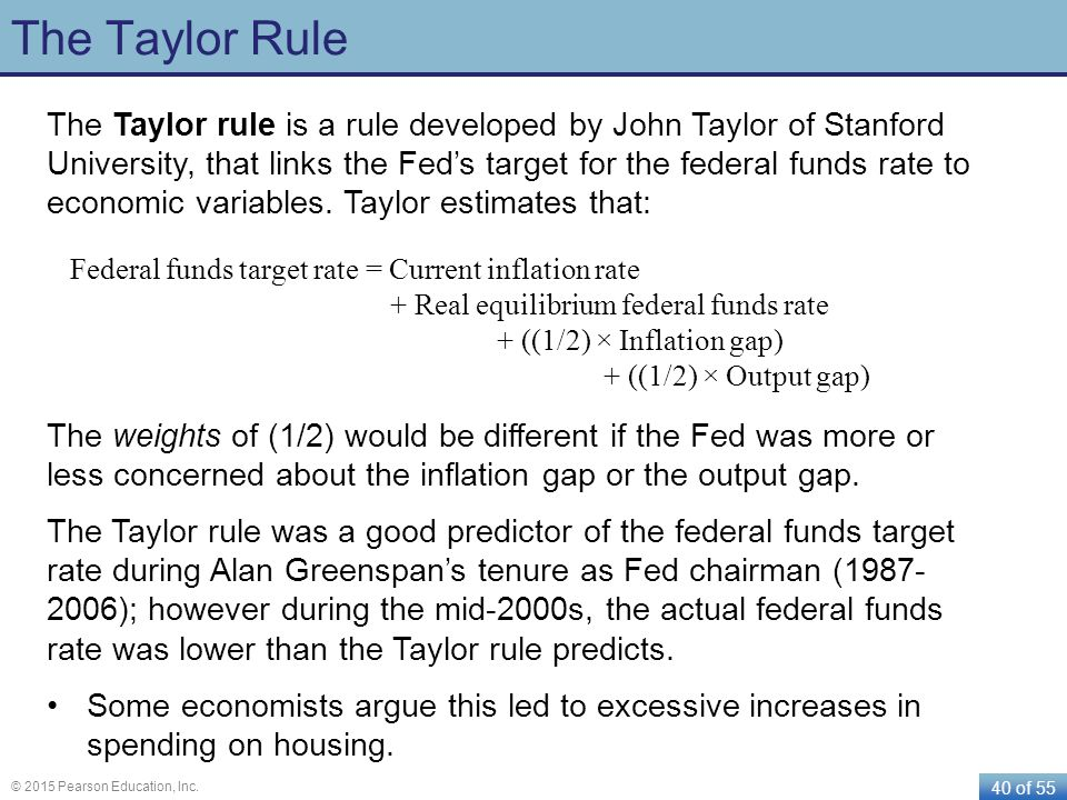 """some problems with taylor rules Taylor's rule was invented and published from 1992 to 1993 by john taylor, a stanford economist, who outlined the rule in his precedent-setting 1993 study """"discretion vs policy rules in."""