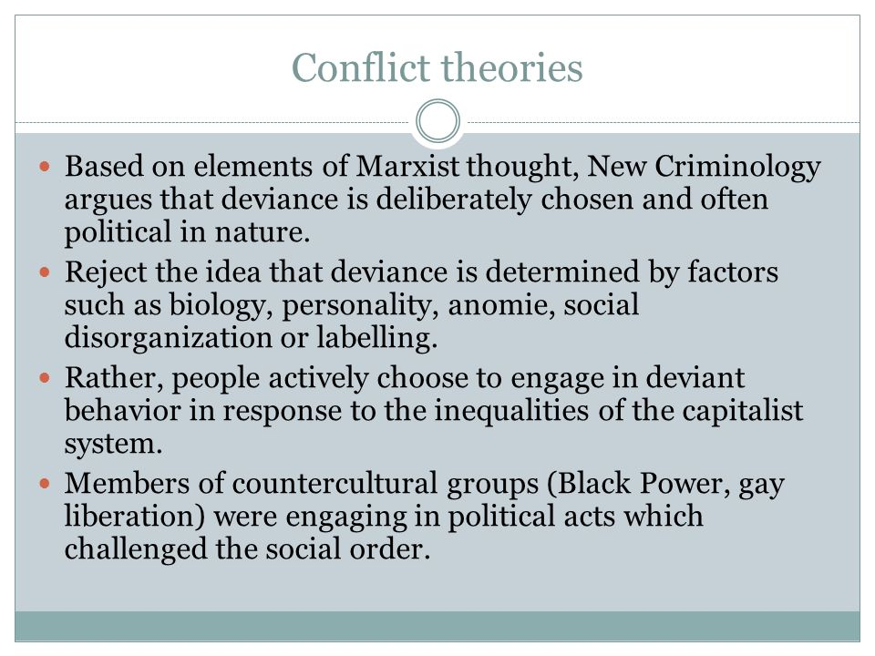 deviant theory in criminology