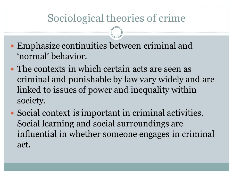 attachment theory and criminal behaviour Attachment theory child the children of single teenage mothers are more at risk for later criminal behaviour generally use aggressive criminology project.