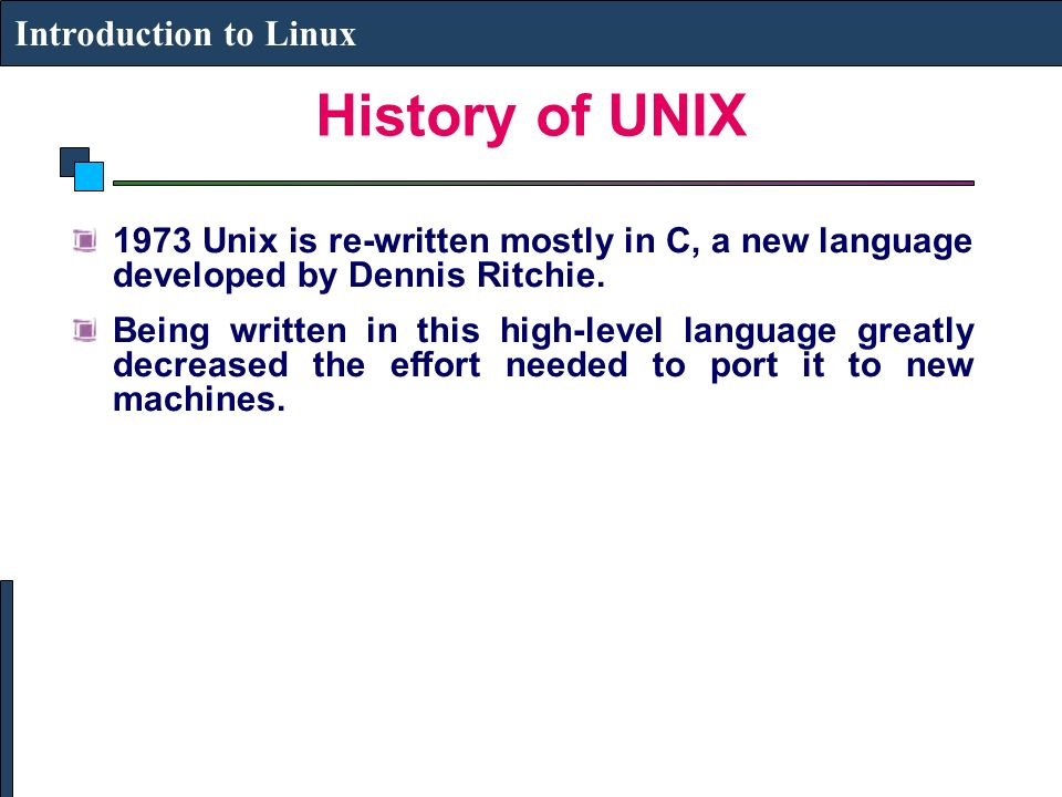 an introduction to the history of linux This article is an introduction of linux for people who have questions about this software they learn who created linux, for what purpose, and are even given a brief linux introduction history to better understand and appreciate the labor invested in this international project.
