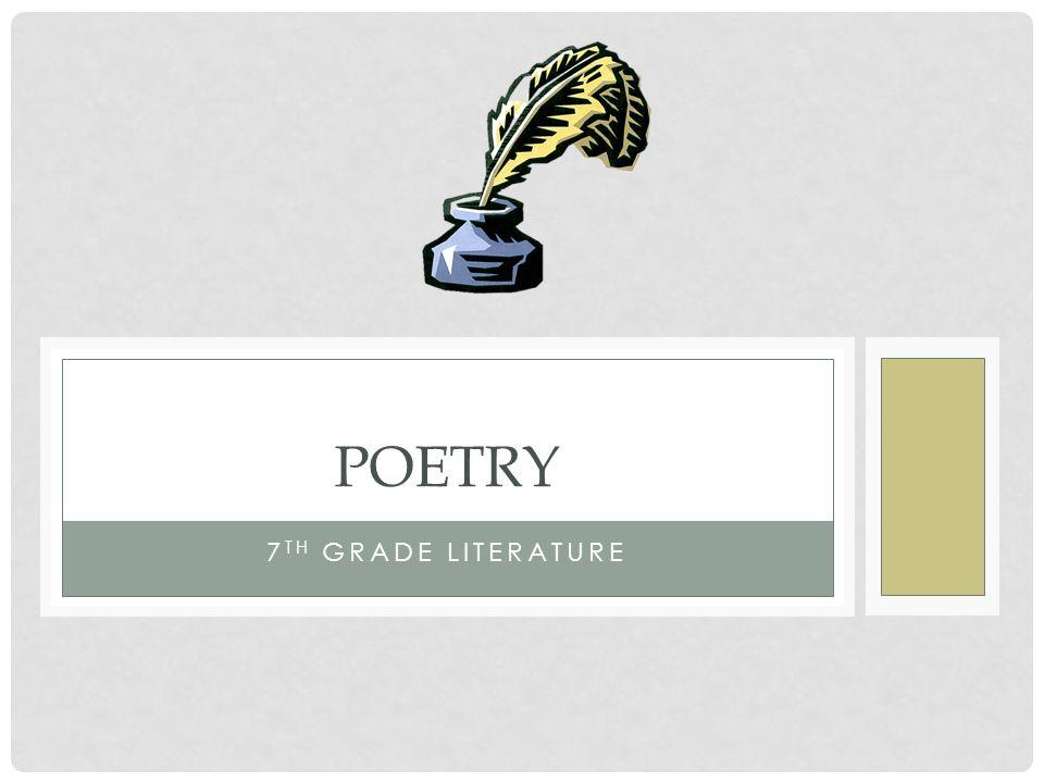 Poetry 7th grade literature