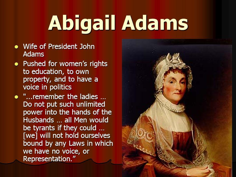 abigail adams an american women essay Papers biography - abigail adams an american woman by charles w akers.