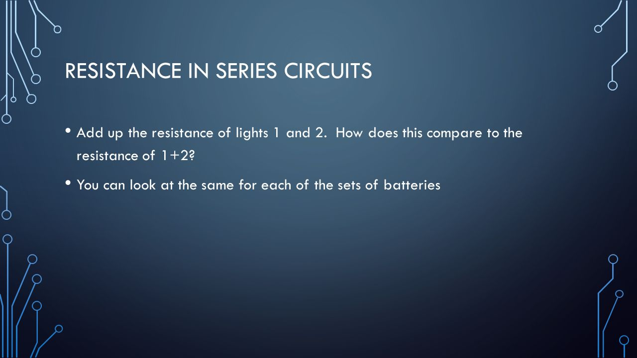 how to find resistance in a series circuit