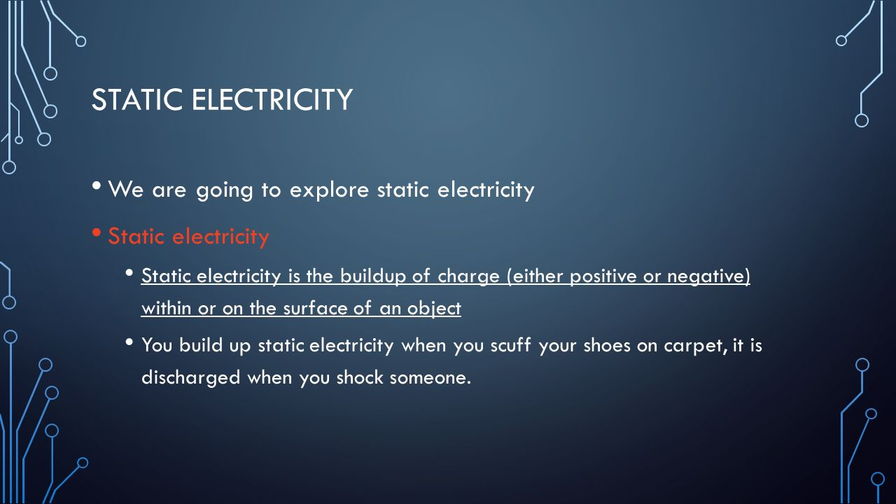 how to make static electricity to shock someone