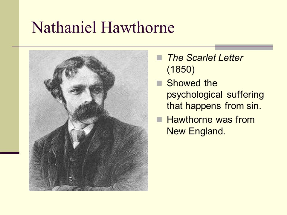 human suffering in the scarlett letter by nathaniel hawthorne The scarlet letter by nathaniel hawthorne: the effects of sin on the  in general , while all the characters suffer from the effects of their sin in.