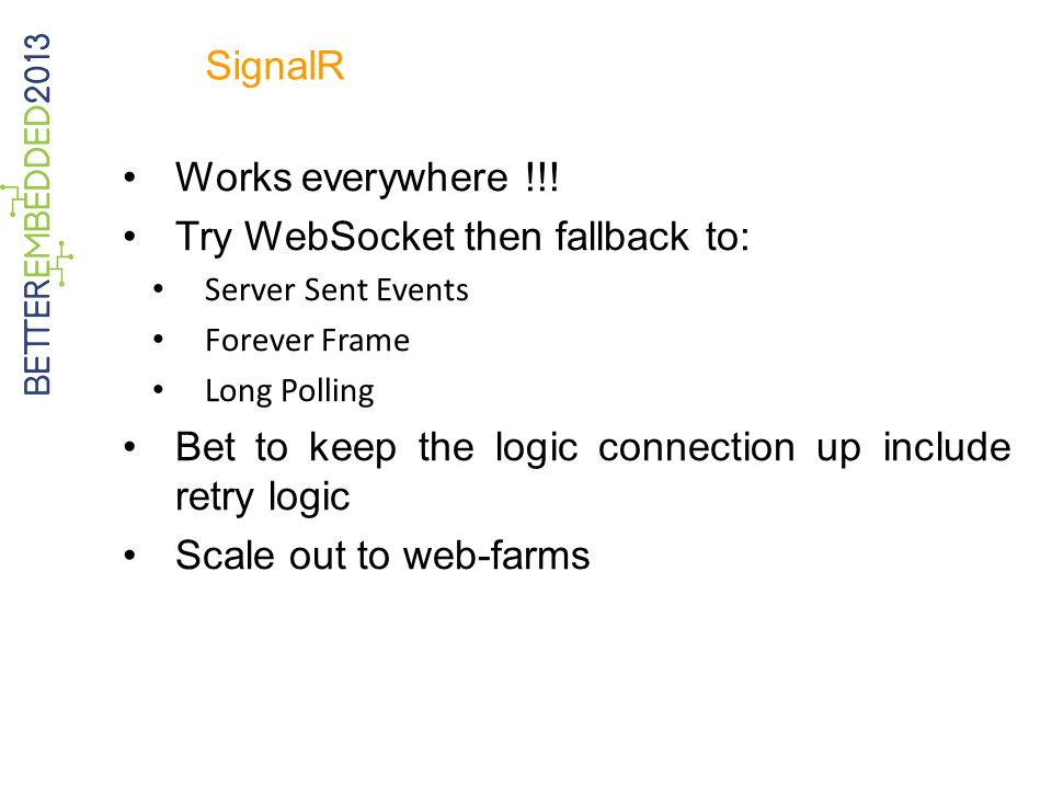 Try WebSocket then fallback to: