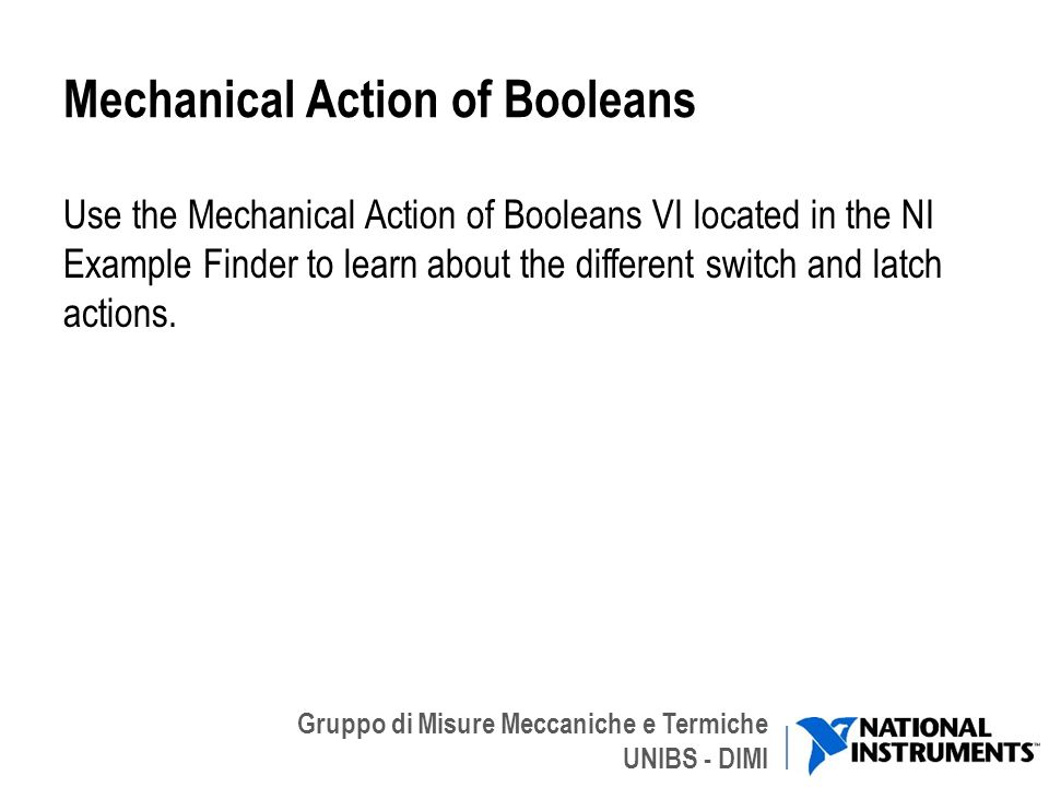Mechanical Action of Booleans