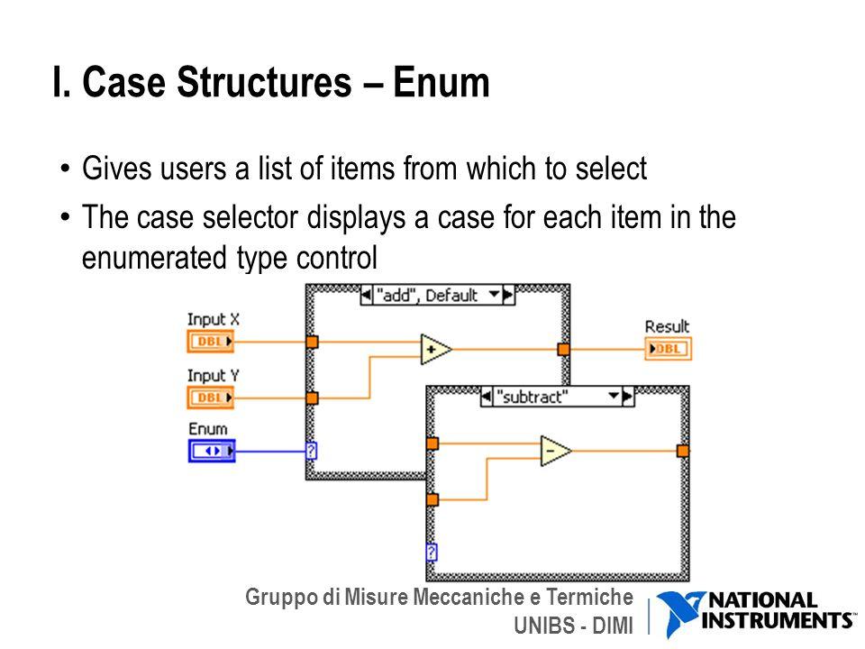 I. Case Structures – Enum