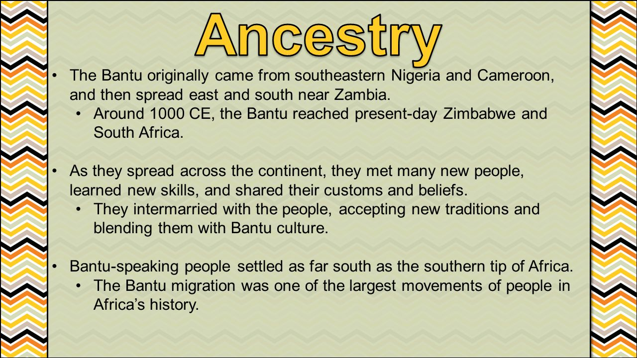 history of the bantu speaking people history essay First of all we ought to ask, what constitutes a good history essay probably no two people will completely agree  the language of the roman empire.