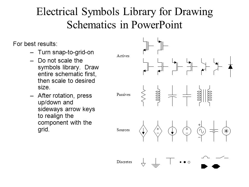 Electrical Symbols Library for Drawing Schematics in PowerPoint ...