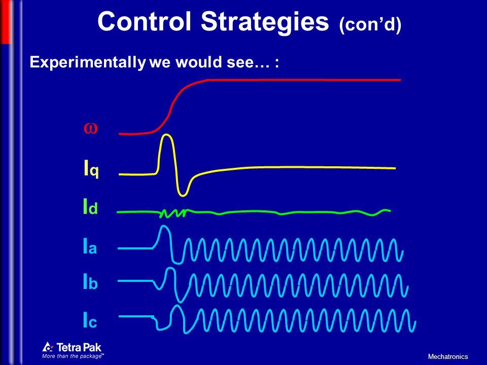 Control Strategies (con'd)