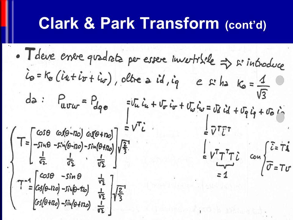 Clark & Park Transform (cont'd)