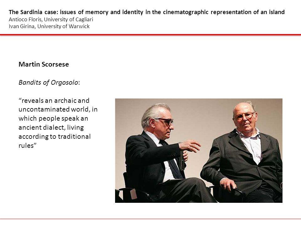 Martin Scorsese Bandits of Orgosolo: