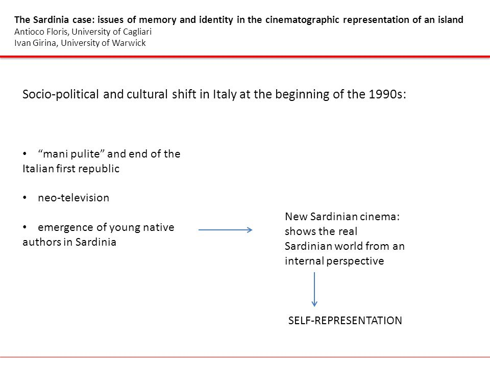 The Sardinia case: issues of memory and identity in the cinematographic representation of an island